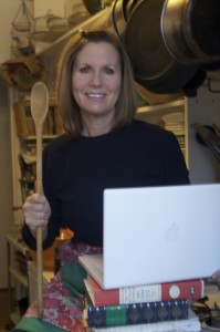 Copywriter Lorraine Thompson in the Copywriters' Kitchen