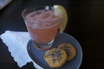 Cocktail Hour  at Copywriters' Kitchen: Frozen Whiskey Sours and Savory Cheddar Wafers
