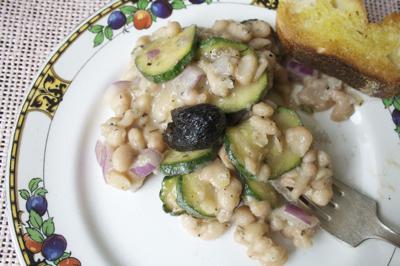 Lemony White Bean and Zucchini Salad