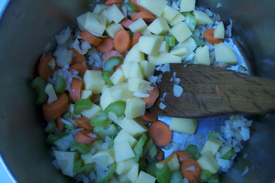 frying-vegies