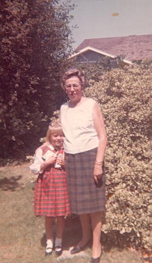 Grandma and me, Porterville, California