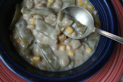 Slow Cooker Corn and Green Bean Succotash Recipe