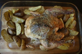 Thursday Night Herb-Roasted Chicken and Roasted Potatoes Recipe