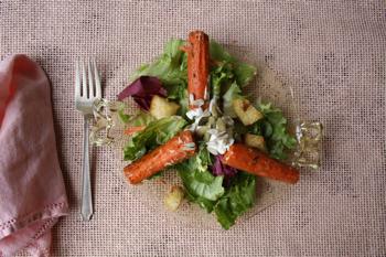 Winter Greens and Cumin Roast Carrot Salad Recipe