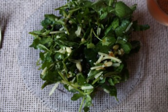 Watercress Salad with Pignoli and Currants Recipe