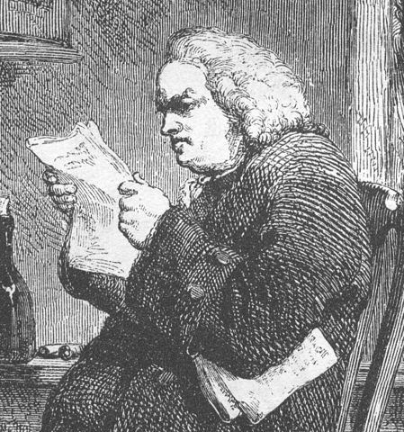 Dr. Samuel Johnson, lexicographer and grain snob