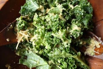 Warm Kale and Lentil Salad with Honey Mustard Vinaigrette Recipe