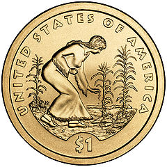 Three Sisters Planting  featured on 2009 Native American U.S. dollar coin