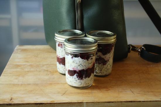 Mason-Jar Meal: Overnight Oats Cherry-Berry Parfait Recipe